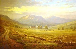 Highland Pastures by James Preston -  sized 22x14 inches. Available from Whitewall Galleries